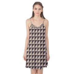 Brown Triangles Background Pattern  Camis Nightgown