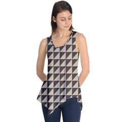 Brown Triangles Background Pattern  Sleeveless Tunic