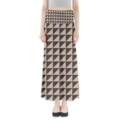 Brown Triangles Background Pattern  Maxi Skirts