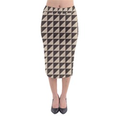 Brown Triangles Background Pattern  Midi Pencil Skirt