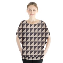Brown Triangles Background Pattern  Blouse