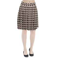 Brown Triangles Background Pattern  Pleated Skirt