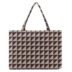 Brown Triangles Background Pattern  Medium Zipper Tote Bag