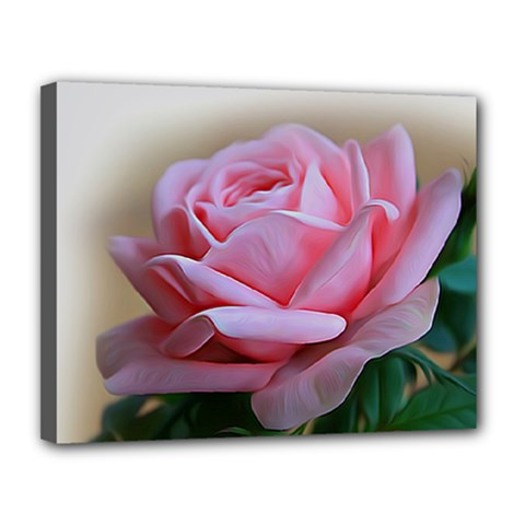 Rose Pink Flowers Pink Saturday Canvas 14  X 11