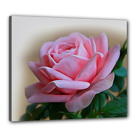 Rose Pink Flowers Pink Saturday Canvas 24  X 20