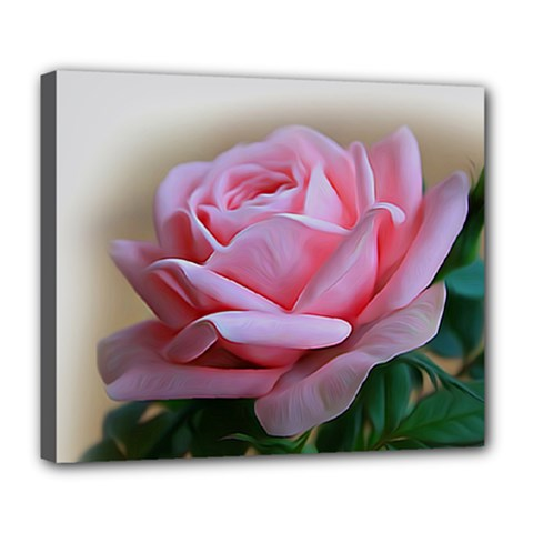 Rose Pink Flowers Pink Saturday Deluxe Canvas 24  X 20