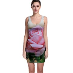 Rose Pink Flowers Pink Saturday Sleeveless Bodycon Dress