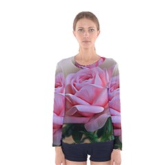 Rose Pink Flowers Pink Saturday Women s Long Sleeve Tee