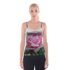 Rose Pink Flowers Pink Saturday Spaghetti Strap Top