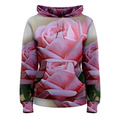 Rose Pink Flowers Pink Saturday Women s Pullover Hoodie