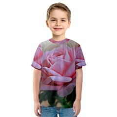 Rose Pink Flowers Pink Saturday Kids  Sport Mesh Tee
