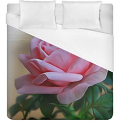 Rose Pink Flowers Pink Saturday Duvet Cover (king Size)
