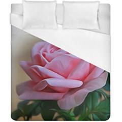Rose Pink Flowers Pink Saturday Duvet Cover (california King Size)