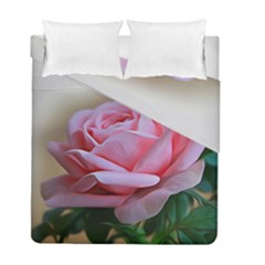 Rose Pink Flowers Pink Saturday Duvet Cover Double Side (full/ Double Size)