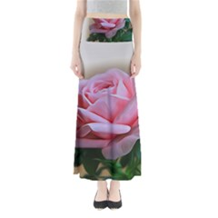 Rose Pink Flowers Pink Saturday Maxi Skirts