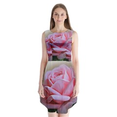 Rose Pink Flowers Pink Saturday Sleeveless Chiffon Dress