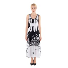Snow Removal Winter Word Sleeveless Maxi Dress