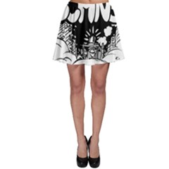 Snow Removal Winter Word Skater Skirt