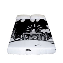 Snow Removal Winter Word Fitted Sheet (full/ Double Size)