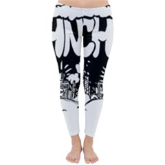 Snow Removal Winter Word Classic Winter Leggings