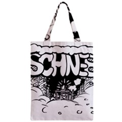 Snow Removal Winter Word Zipper Classic Tote Bag