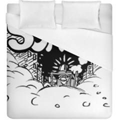 Snow Removal Winter Word Duvet Cover (king Size)