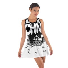 Snow Removal Winter Word Cotton Racerback Dress
