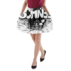 Snow Removal Winter Word A Line Pocket Skirt
