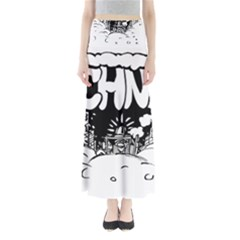 Snow Removal Winter Word Maxi Skirts