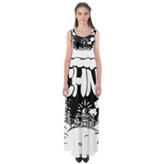 Snow Removal Winter Word Empire Waist Maxi Dress