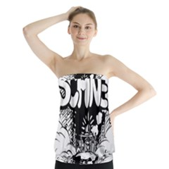 Snow Removal Winter Word Strapless Top