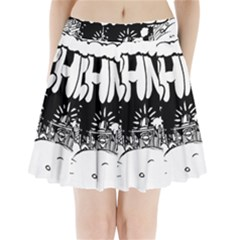Snow Removal Winter Word Pleated Mini Skirt