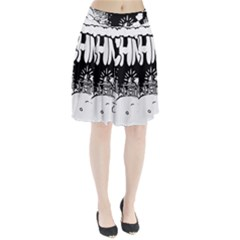 Snow Removal Winter Word Pleated Skirt