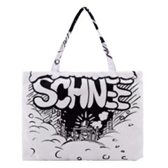 Snow Removal Winter Word Medium Tote Bag