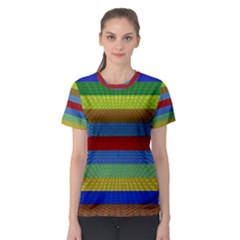 Pattern Background Women s Sport Mesh Tee
