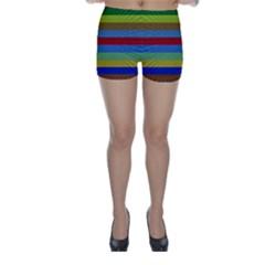 Pattern Background Skinny Shorts