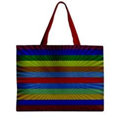 Pattern Background Zipper Mini Tote Bag