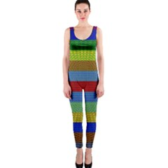 Pattern Background Onepiece Catsuit