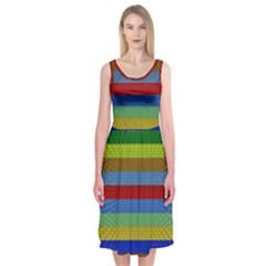 Pattern Background Midi Sleeveless Dress