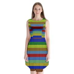 Pattern Background Sleeveless Chiffon Dress