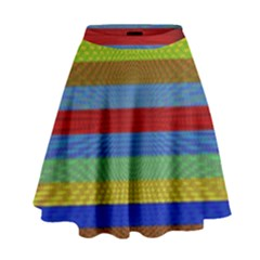 Pattern Background High Waist Skirt