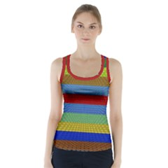 Pattern Background Racer Back Sports Top