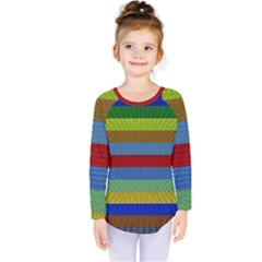 Pattern Background Kids  Long Sleeve Tee