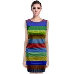 Pattern Background Sleeveless Velvet Midi Dress