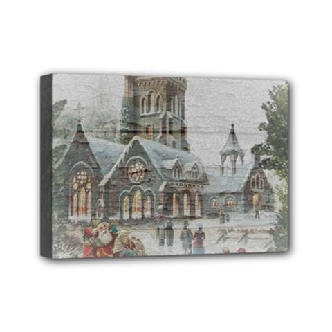 Santa Claus Nicholas Mini Canvas 7  X 5