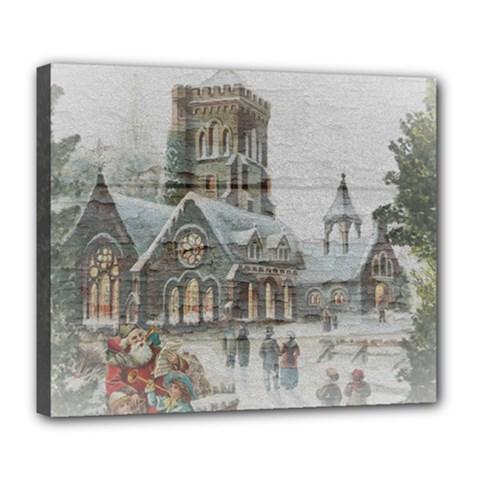 Santa Claus Nicholas Deluxe Canvas 24  X 20