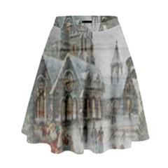 Santa Claus Nicholas High Waist Skirt
