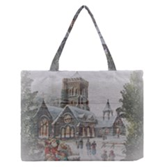 Santa Claus Nicholas Medium Zipper Tote Bag
