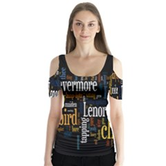 Showing Picture Resolutions Butterfly Sleeve Cutout Tee