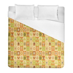 Texture Background Stripes Color Animals Duvet Cover (full/ Double Size)